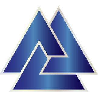 El símbolo de Valknut de los nórdises - 12 - Adorno Fotoescultura