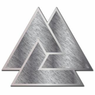 El símbolo de Valknut de los nórdises - 3 - Adorno Fotoescultura