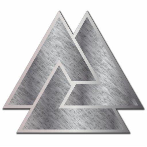El símbolo de Valknut de los nórdises - 3 - escult Adorno Fotoescultura