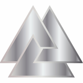 El símbolo de Valknut de los nórdises - 5 - Adorno Fotoescultura