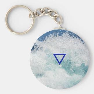 El símbolo del agua del elemento llavero