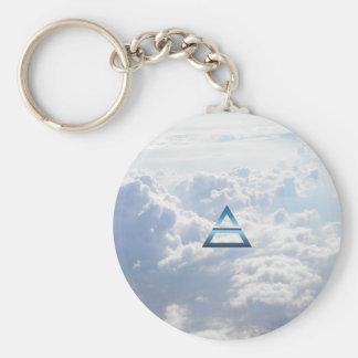 El símbolo del aire del elemento llaveros