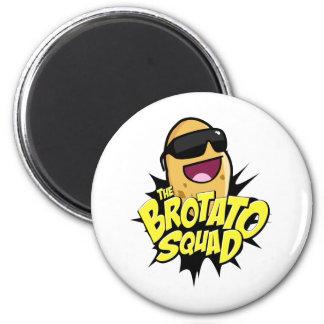 ¡El símbolo del pelotón de Brotato! Imán Redondo 5 Cm