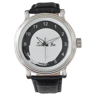 """El símbolo del zen con """"apenas esté """" relojes de pulsera"""
