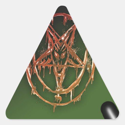 El símbolo egipcio de la buena suerte calcomanías trianguloes personalizadas