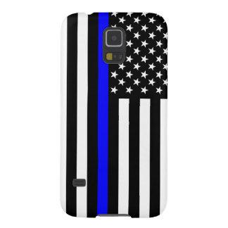 El símbolo fino americano de Blue Line Funda Galaxy S5