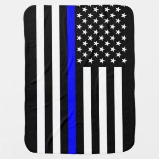 El símbolo fino americano de Blue Line Mantitas Para Bebé