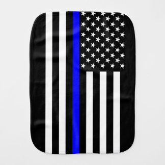 El símbolo fino americano de Blue Line Paños Para Bebé