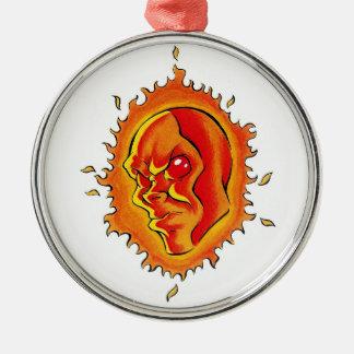 El símbolo fresco Sun del tatuaje del dibujo anima Ornamentos Para Reyes Magos
