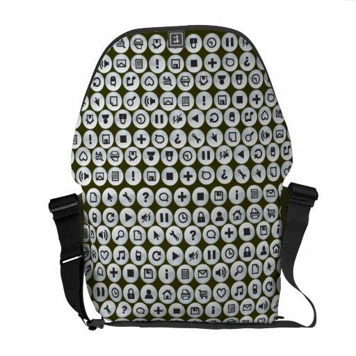 El símbolo móvil de la tecnología abotona verde ve bolsas messenger