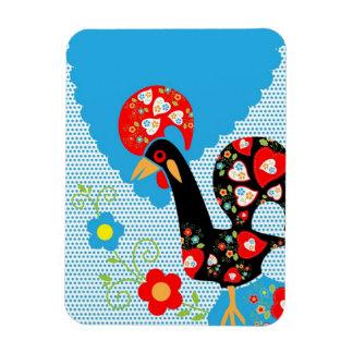 El símbolo portugués del gallo imán flexible