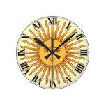 El símbolo Sun de la Argentina Uruguay hace frente Reloj Redondo Mediano