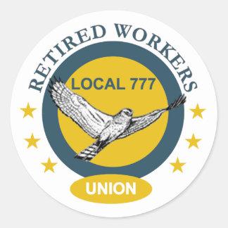 El sindicato de trabajadores jubilado pegatinas redondas