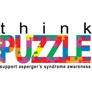 El síndrome de Asperger piensa ROMPECABEZAS Fotoescultura Vertical