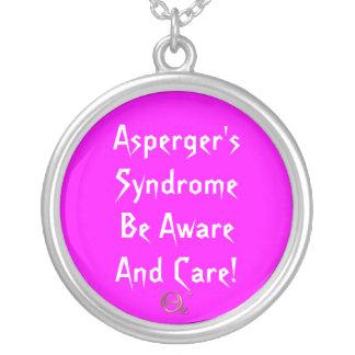 ¡El síndrome de Asperger sea enterado y cuidado! Colgante Redondo