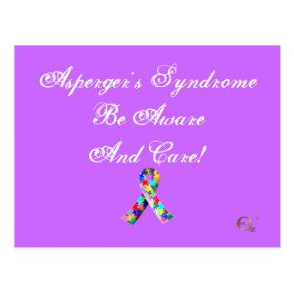 ¡El síndrome de Asperger sea enterado y cuidado! Tarjetas Postales