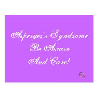¡El síndrome de Asperger sea enterado y cuidado! Postales