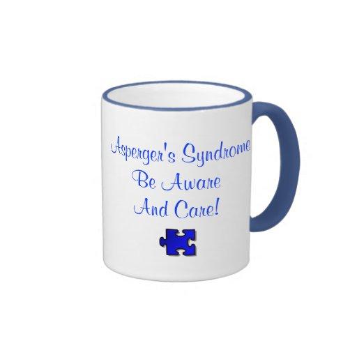 ¡El síndrome de Asperger sea enterado y cuidado! Tazas De Café