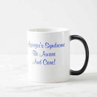 ¡El síndrome de Asperger sea enterado y cuidado! Taza Mágica