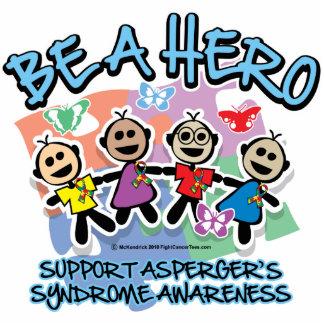 El síndrome de Asperger sea un héroe Fotoescultura Vertical
