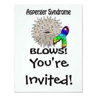El síndrome de Asperger sopla diseño de la Invitación 10,8 X 13,9 Cm