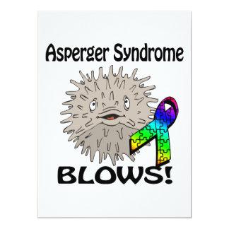 El síndrome de Asperger sopla diseño de la Invitación 16,5 X 22,2 Cm