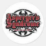 El síndrome de Asperger tribal Pegatina Redonda