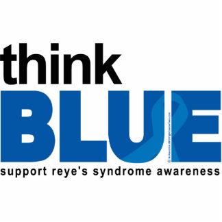 El síndrome de Reye piensa el azul Fotoescultura Vertical