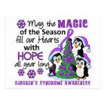 El síndrome de Sjogren de los pingüinos del navida Postal