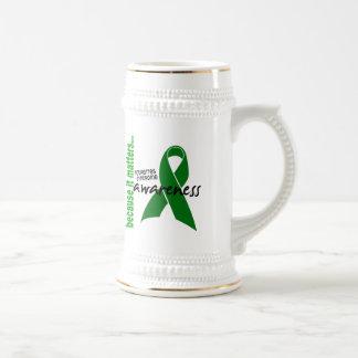 El síndrome de Tourette de la conciencia 1 Jarra De Cerveza