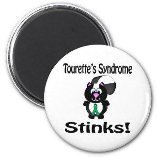 El síndrome de Tourettes apesta diseño de la conci Imán Redondo 5 Cm