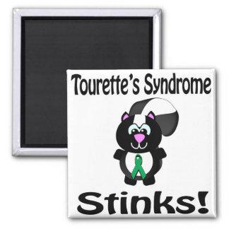 El síndrome de Tourettes apesta diseño de la Imán Cuadrado