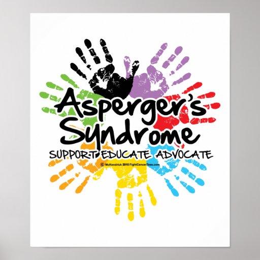 El síndrome Handprint de Asperger Póster