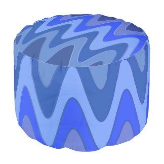 El sino agita el azul + sus ideas puf redondo