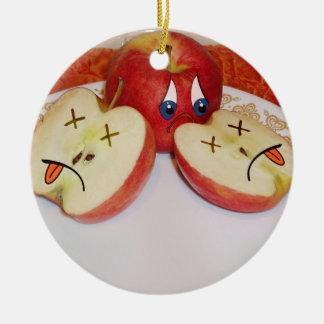 El sino de Apple jugoso Adorno Redondo De Cerámica