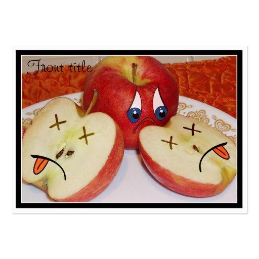 El sino de Apple jugoso Tarjetas De Visita