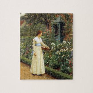 El sino de la pintura al óleo color de rosa puzzle