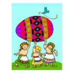 El sino del arte popular ucraniano del mundo tarjetas postales