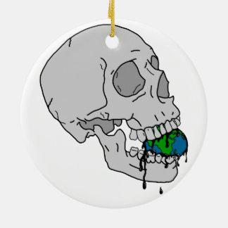 El sino del vampiro adorno navideño redondo de cerámica
