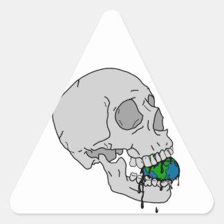 El sino del vampiro pegatina triangular