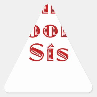 El SIS de los novios Pegatina Triangular