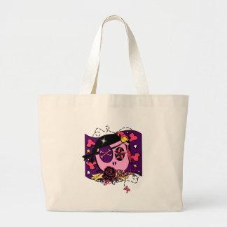El sisar en rosa bolsa tela grande