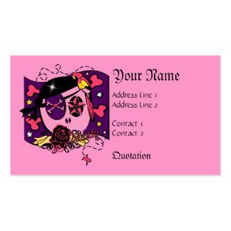 El sisar en rosa tarjetas de visita