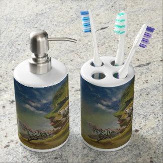 El sistema de la higiene del cuarto de baño de la jaboneras