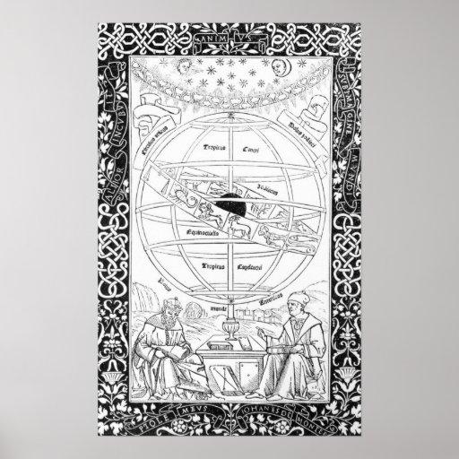 El sistema de Ptolomeo Posters