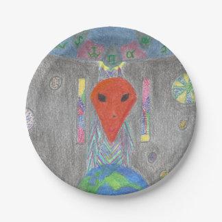 El sistema del extranjero del UFO de la Platos De Papel