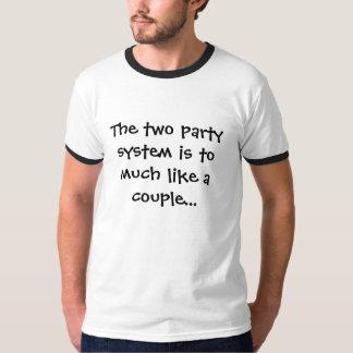 El sistema del fiesta de dos playera