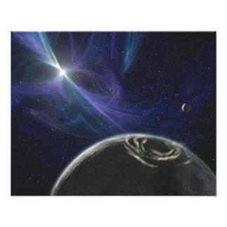 El sistema del planeta del pulsar fotografías