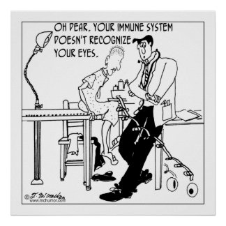 El sistema inmune rechaza ojos póster