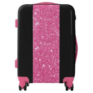 El sistema listo del brillo rosado va equipaje maletas